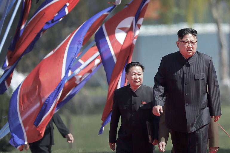 Kim Jong Un et Choe Ryong Hae à Pyongyang le 13 avril 2017.