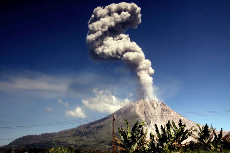 Le volcan Sinabung, en Indonésie (Illustration)