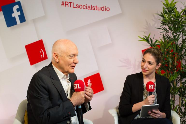 Nicolas Domenach et Marie-Pierre Haddad dans le RTLsocialstudio