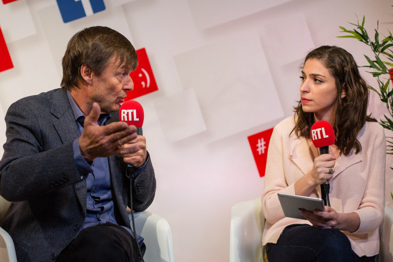 Nicolas Hulot dans le RTLsocialstudio
