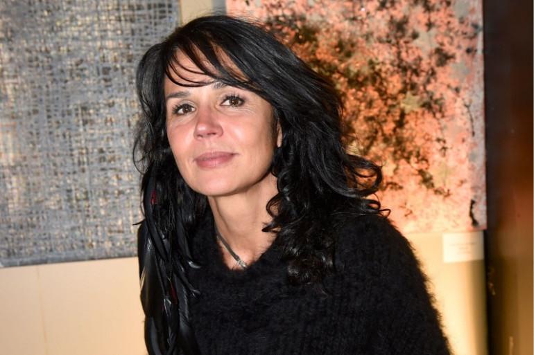 """Catherine Wilkening, actrice, lors de l'exposition """"YOUniverse"""" à Paris en septembre 2015"""