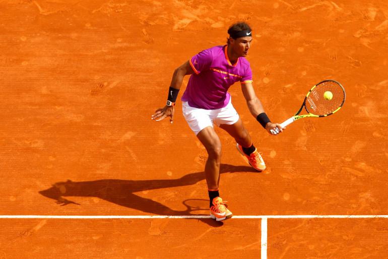 Rafael Nadal sur la terre battue de Monte-Carlo en avril 2017