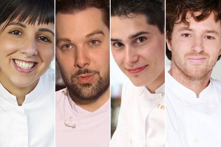 """Naoëlle D'Hainaut, Xavier Pincemin, Xavier Koenig et Jean Imbert, quatre lauréats de """"Top Chef"""""""