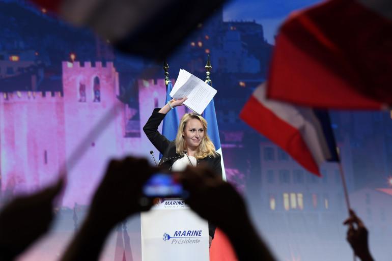 Marion Maréchal-Le Pen au meeting de Marine Le Pen à Marseille le 17 avril.