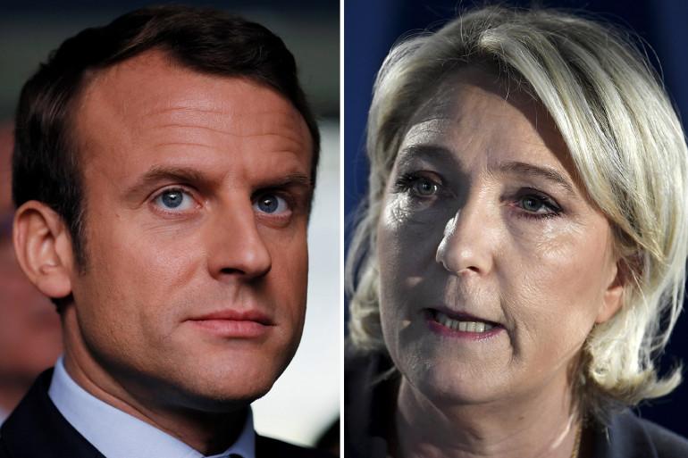 Emmanuel Macron et Marine Le Pen, les deux qualifiés au second tour de la présidentielle