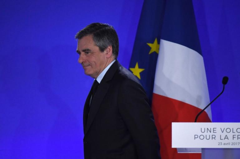 François Fillon au soir de sa défaite au premier tour de la présidentielle, le 23 avril 2017