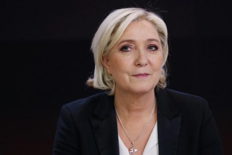 Marine Le Pen, finaliste à l'élection présidentielle 2017, le 24 avril sur France 2