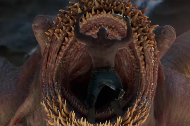 """Drax prêt à entrer dans le monstre des """"Gardiens de la Galaxie 2"""""""