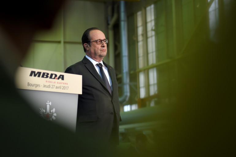 François Hollande, le 27 avril 2017 à Bourges