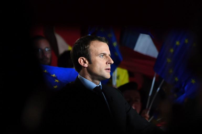 Emmanuel Macron à Arras, le 27 avril 2017