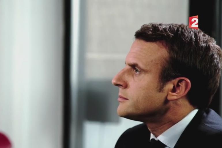 Emmanuel Macron dimanche 30 avril 2017 sur France 2