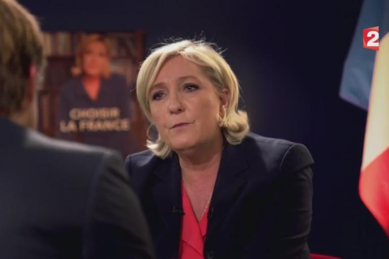 Marine Le Pen sur France 2 le 30 avril 2017