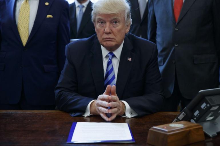 Donald Trump dans le Bureau ovale de la Maison blanche le 24 mars 2017