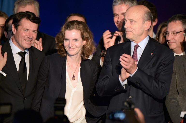 Christian Estrosi, Nathalie Kosciuszko-Morizet et Alain Juppé (de gauche à droite) le 22 novembre 2014 à Bordeaux.