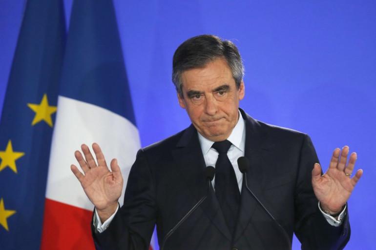 François Fillon le soir de sa défaite le 23 avril 2017