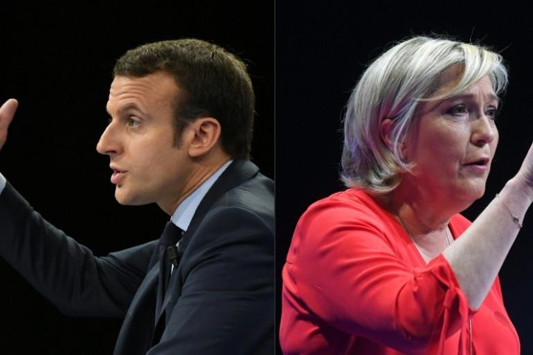 Emmanuel Macron et Marine Le Pen, finalistes de la présidentielle 2017