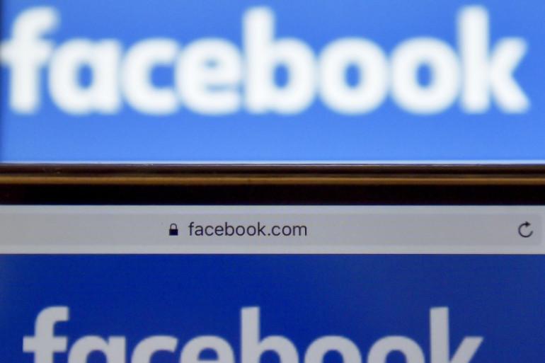 Le logo du réseau social Facebook (illustration)