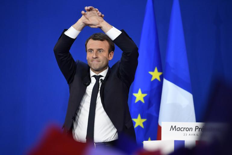 Emmanuel Macron le 5 mai 2017