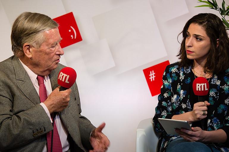 Alain Duhamel et Marie-Pierre Haddad dans le RTLsocialstudio