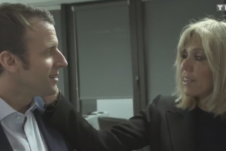 """Emmanuel et Brigitte Macron lors du documentaire """"Emmanuel Macron : les coulisses d'une victoire"""""""