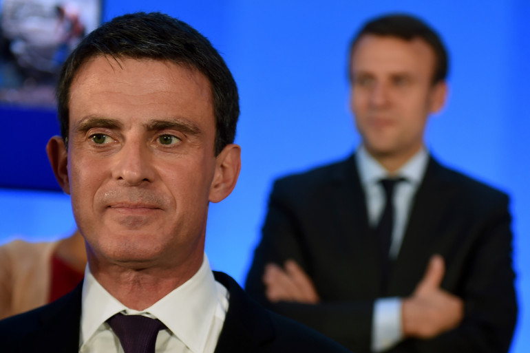 Manuel Valls et Emmanuel Macron, le 20 mai 2016