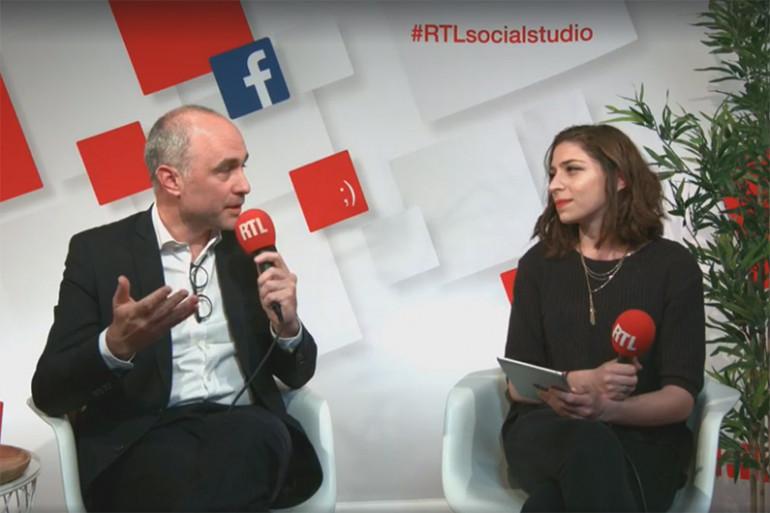 Gilles Boyer et marie-Pierre Haddad dans le Social Studio de RTL le 10 mai 2017
