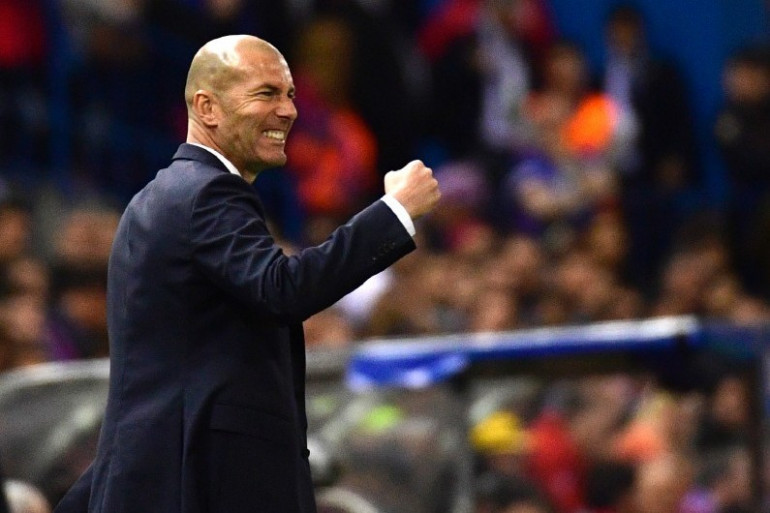 Zinedine Zidane face à l'Atlético de Madrid le 10 mai 2017