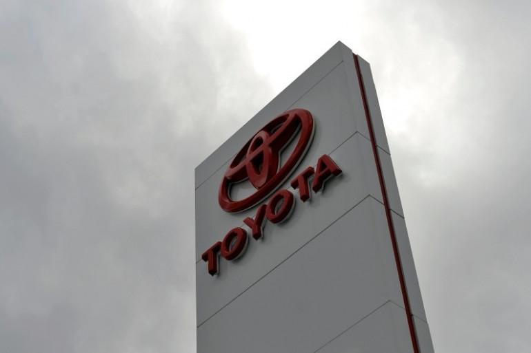 Le logo du constructeur japonais Toyota, le 11 février 2014 à Sydney