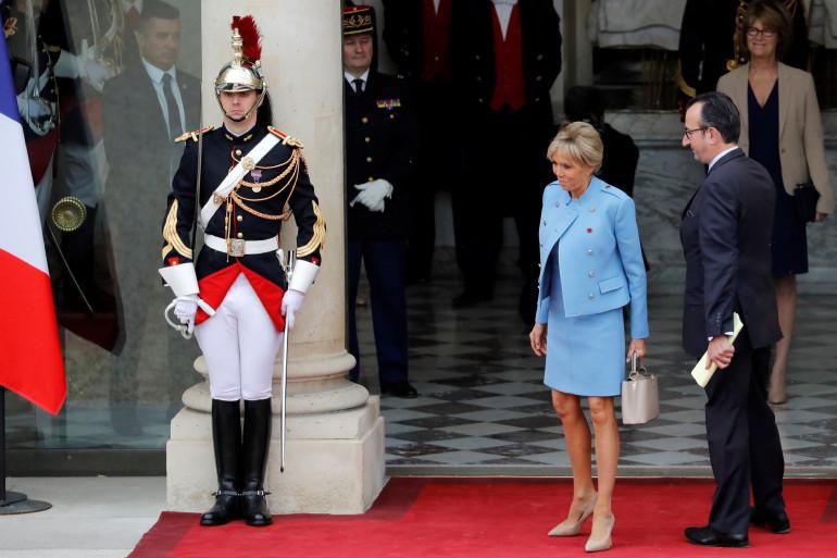 Brigitte Macron à l'Élysée, dimanche 14 mai.