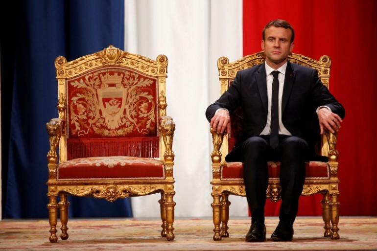 Emmanuel Macron, le 14 mai 2017 à l'Hôtel de ville de Paris