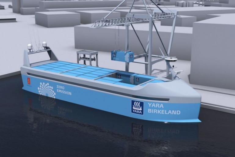 La Norvège lancera en 2018 le premier cargo 100 % électrique