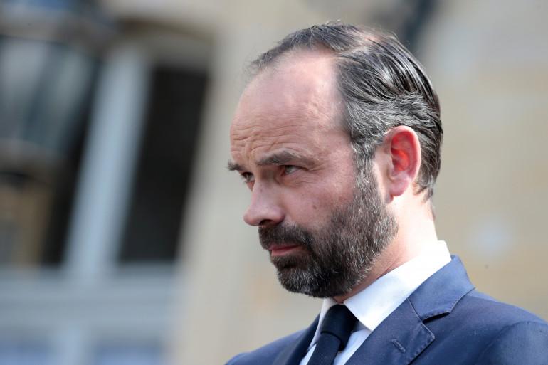 Édouard Philippe, nouveau premier ministre, le jour de la passation de pouvoir, le 15 mai 2017