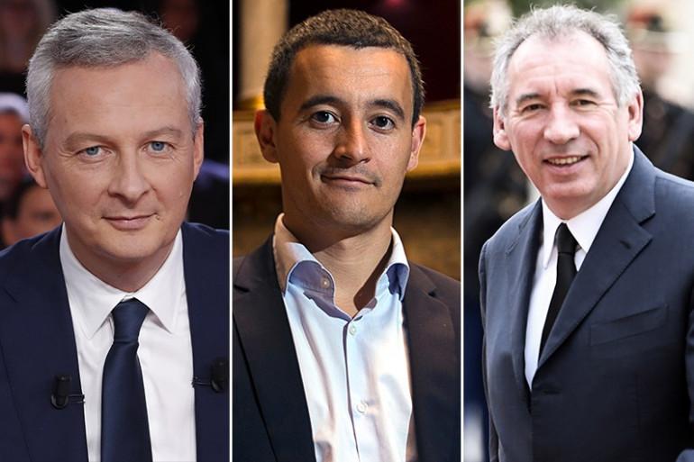 Bruno Le Maire, Gérald Darmanin et François Bayrou
