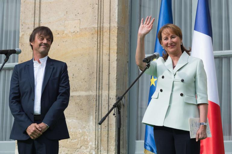 Nicolas Hulot et Ségolène Royal le 17 mai  2017 à Paris.