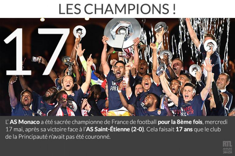 L'AS Monaco a été sacrée championne de France de football