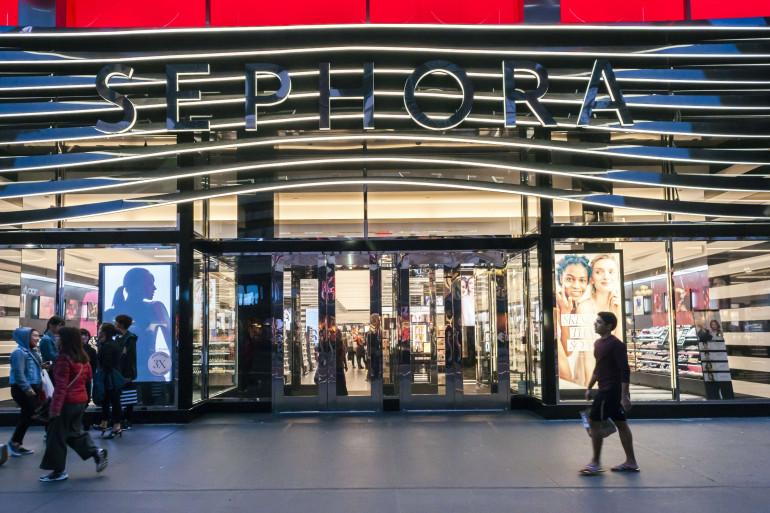 Le magasin de l'enseigne Sephora, propriété de LVMH, à New York.