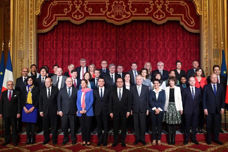 François Hollande, Manuel Valls et le gouvernement, le 17 février 2016