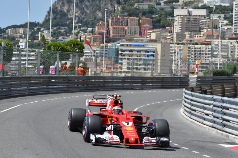 Kimi Raïkonnen lors du Grand Prix de Monaco 2017