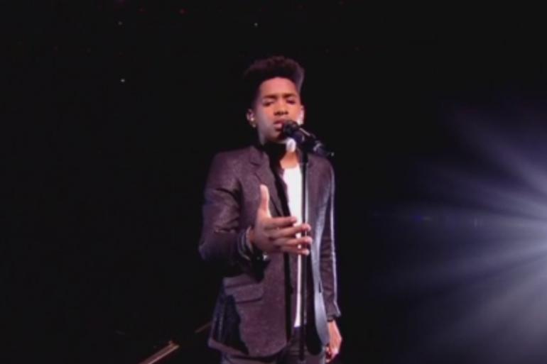"""Lisandro Cuxi lors de son second prime de """"The Voice 2017"""""""