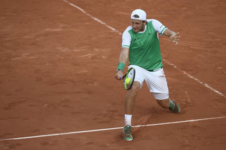 Lucas Pouille à Roland-Garros en mai 2017