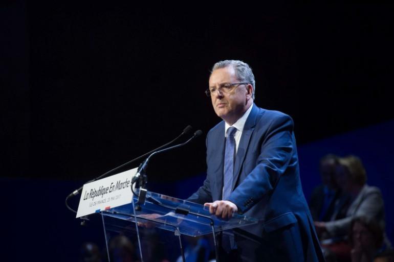 Richard Ferrand, ministre de la Cohésion des territoires, le 23 mai 2017 à Aubervilliers