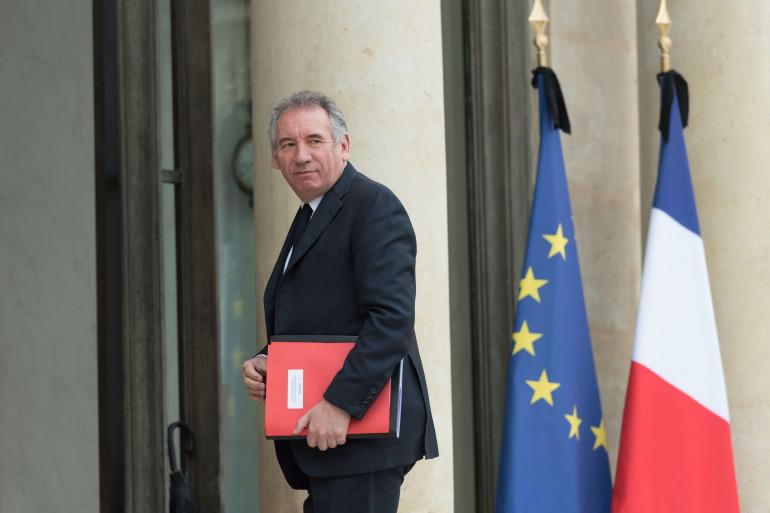 François Bayrou à l'Élysée, le 24 mai 2017