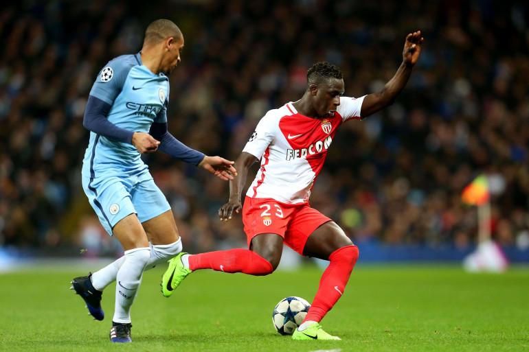 Benjamin Mendy avec Monaco face à Manchester City le 21 février 2017