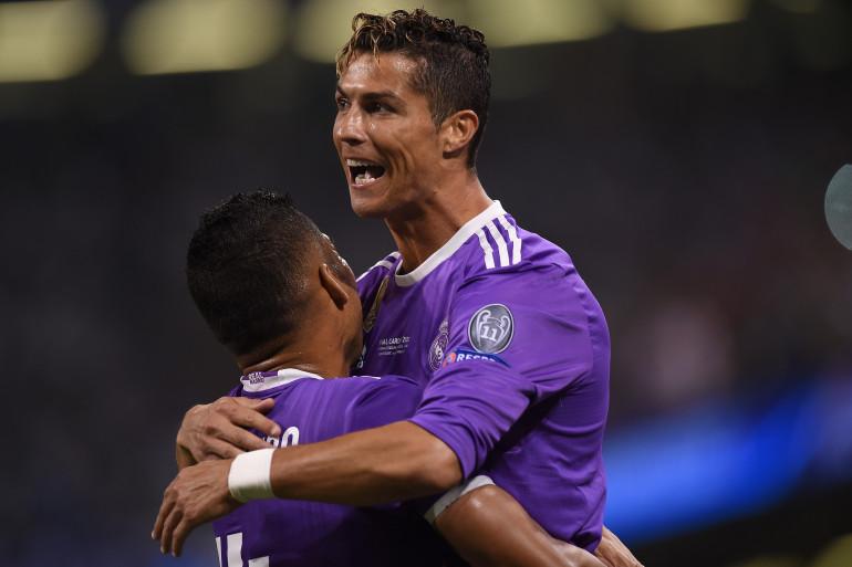 Cristiano Ronaldo célèbre son but lors de la finale de la Ligue des champions, le 3 juin 2017