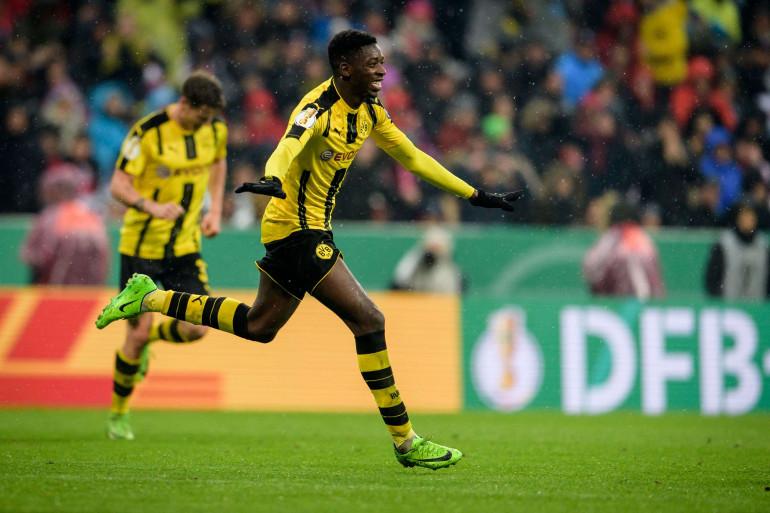 Ousmane Dembélé sous les couleurs du Borussia Dortmund en avril 2017