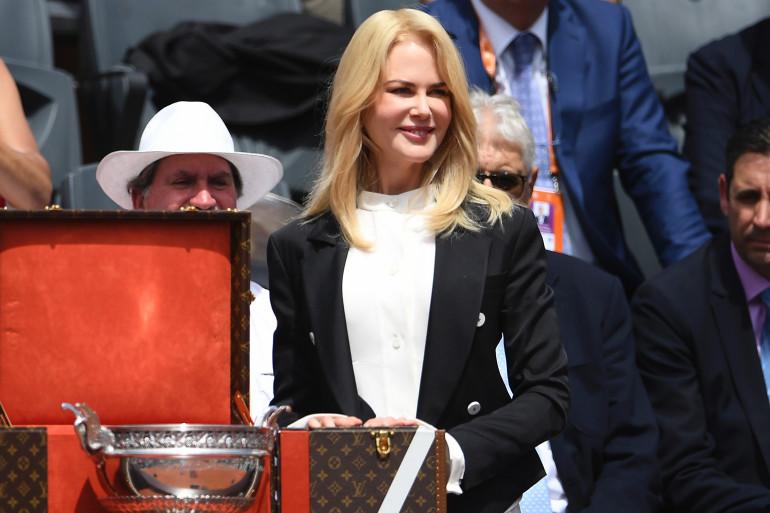 Nicole Kidman a présenté la coupe des Mousquetaires avant la finale de Roland-Garros 2017.