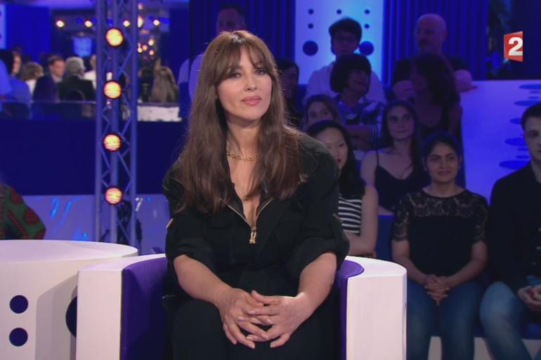 """L'actrice Monica Bellucci sur le plateau d'""""On n'est pas couché"""", samedi 17 juin."""