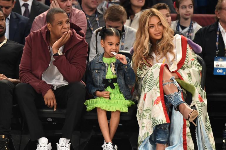 Beyoncé et Jay-Z avec leur fille Blue Ivy