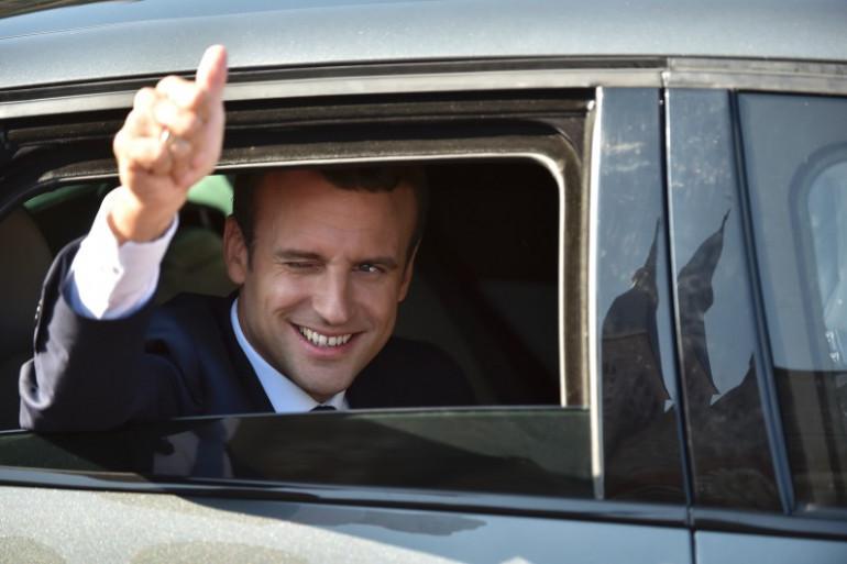 Emmanuel Macron va voter au Touquet le 18 juin 2017