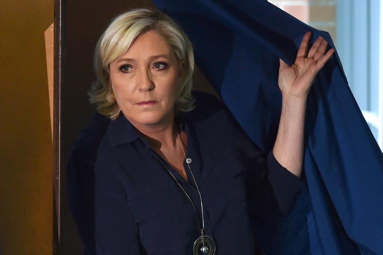 Marine Le Pen au premier tour des élections législatives, le 11 juin 2017